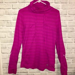 Athletic Cowl Neck Pullover Size M